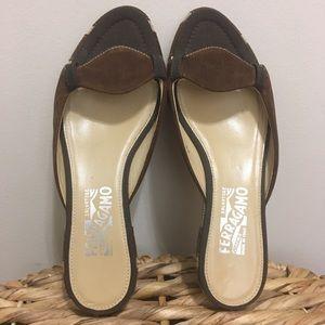 """Sanny"" Salvatore Ferragamo Wedge Sandals! 💥"